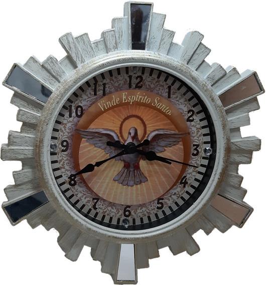 Relógio De Parede Religioso Espírito Santo Mod Angelus
