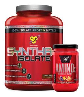 Syntha 6 Isolate 4 Lbs + Amino X 435g Bsn Combo Recuperador