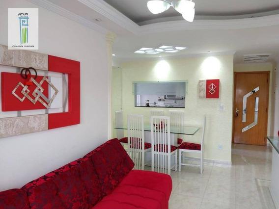 Apartamento Com 3 Dormitórios À Venda, 63 M² Por R$ 382.000 - Jardim Itapemirim - São Paulo/sp - Ap0556