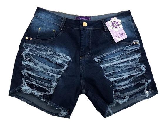 Short Jeans Tamanhos Grandes Com Lycra 44/58 Promoção