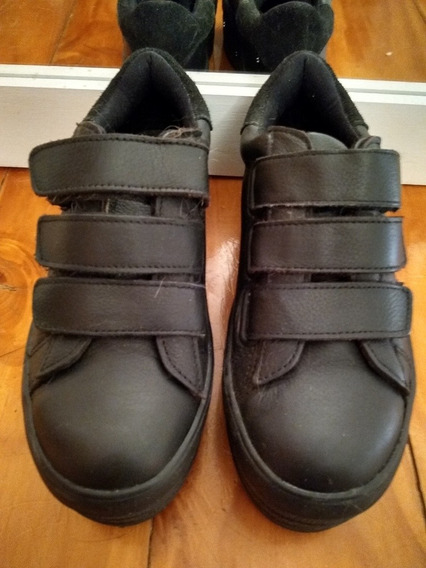 Zapatillas Plataforma 47st Negras Con Velcro Número 35