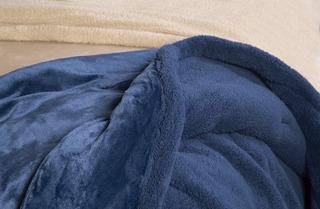 Edredón Acolchado Queen Palette Flannel Reverso Corderito