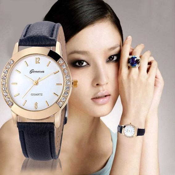Relógio Geneva Fashion Cristal Quartz