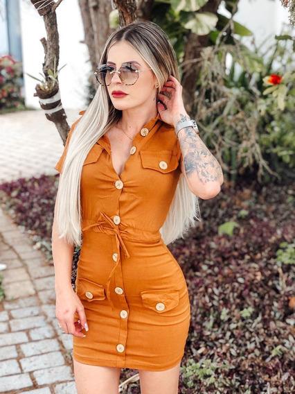 Vestido Super Lindo Com Botões Com Design Maravilhoso