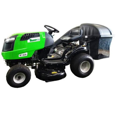 Trator Para Cortar Grama 20hp 4t Gasolina Trapp + Recolhedor