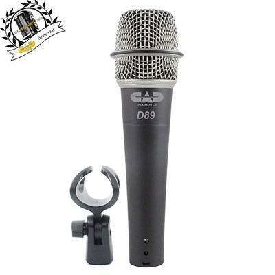 Microfone Dinâmico Supercardióide D-89 - Cad Áudio