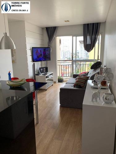 Imagem 1 de 14 de Lindo Apartamento Com 2 Dormitórios, Sacada E 1 Vaga Na Mooca - 2613