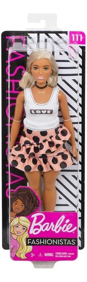 Nova Barbie Fashionistas 111 Curvy T-shirt Love Mattel