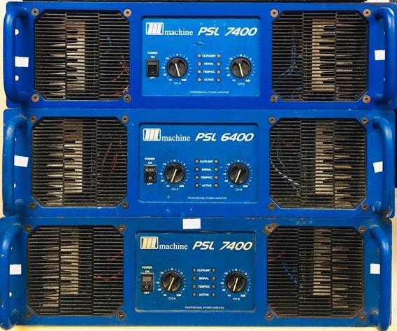 Amplificador Potencia Machine Psl7400 - 12 X Sem Juros