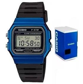 Reloj Casio F91 Wm Azul Retro Vintage Original Envío Gratis
