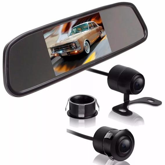Espelho Retrovisor Monitor Tela Lcd 4.3 Câmera D Ré Colori