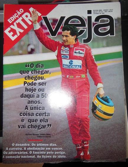 Revista Veja Nº 1338 Edição Extra Ayrton Senna 3 Maio 1994