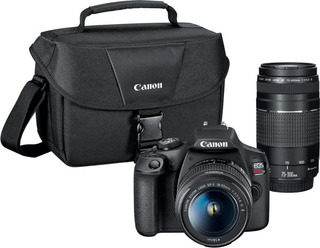 Canon Eos Rebel T7 Dslr Two Lens Kit With Ef-s 18-55mm Y 300