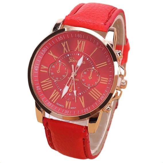 Relógios De Pulso Material Couro Trendy Estilo Relógio Exi