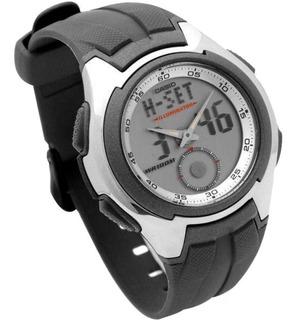 Reloj Casio Aq-160w-7b Wr100 Alarmas Crono Agente Oficial