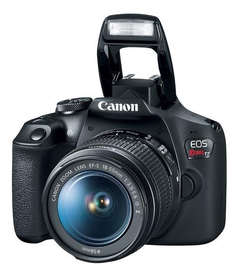 Câmera Canon Eos Rebel T7 18-55mm F/3.5-6.3 Is Il Brasil