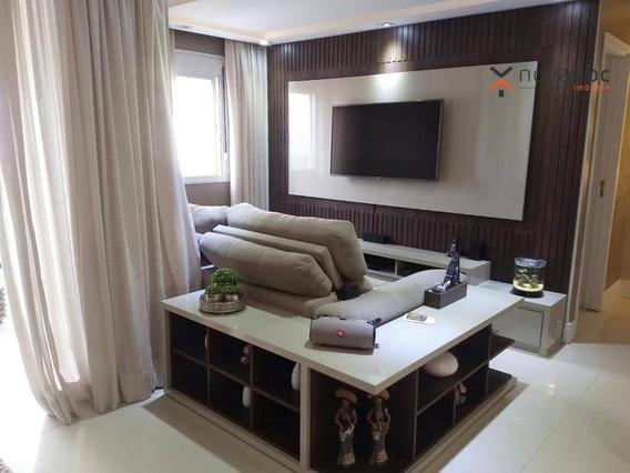 Apartamento Mobiliado Com 2 Dormitórios E Varanda Gourmet À Venda, 85 M² Em Condomínio Completo Por R$ 668.000 - Vila Curuçá - Santo André/sp - Ap1352