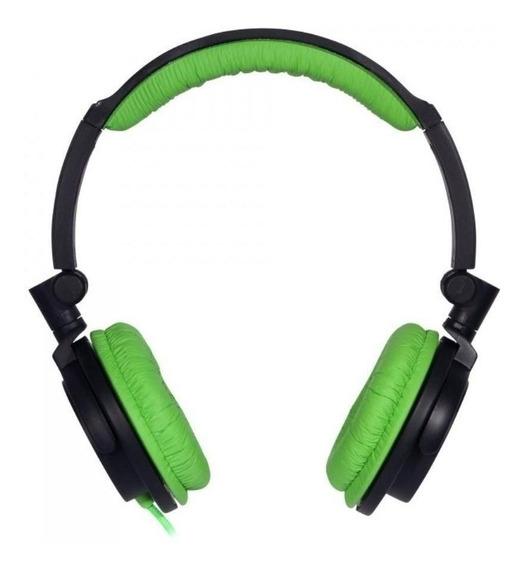 Fone De Ouvido Headphone Verde Com Grave Produndo Sv5612