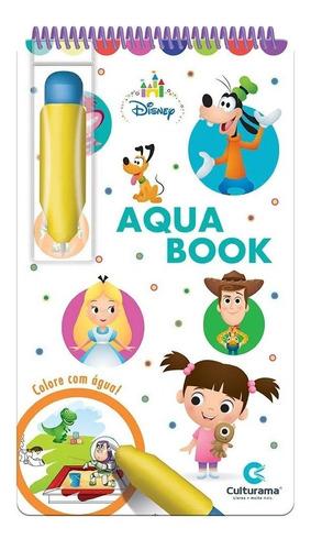 Imagem 1 de 3 de Aquabook Disney Baby Pinta Com Água Livro Capa Dura