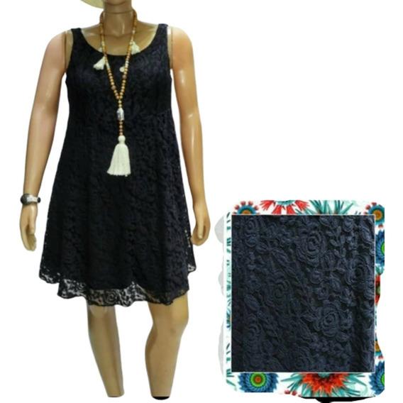 Vestido Encaj Elastizado Forrado Mediapierna T2(l) A 10(xxl)