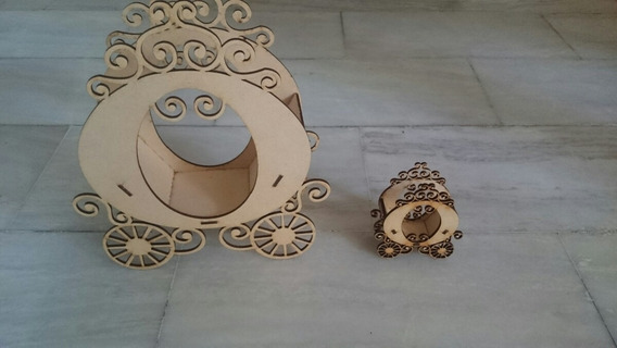 Carroza De Princesa Para Souvenirs Centro De Meza X 10 Unid
