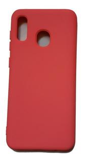 Capa Capinha Case Samsung A20/a30 Aveludada Rosa