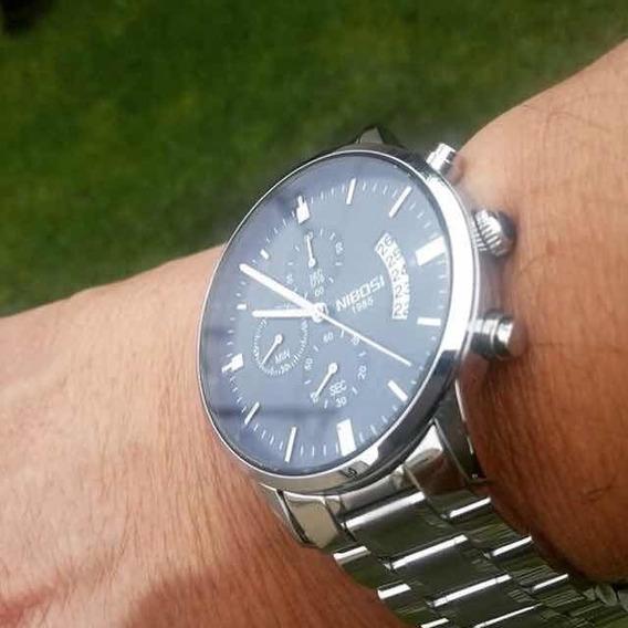 Relógio Nibosi Prateado 2309
