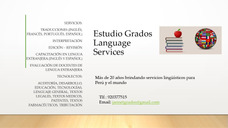 Estudio Grados Language Services