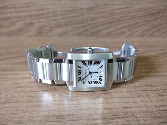 Cartier Tank Francaise Automatico 2302 White Dial