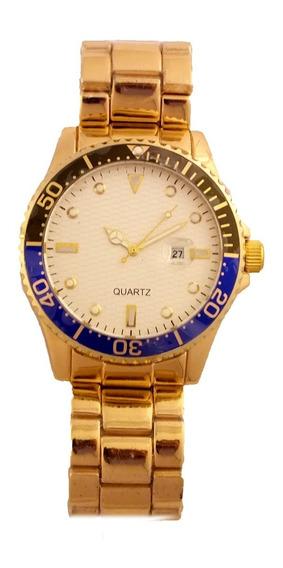 Relógio De Pulso Masculino Quartz Pulseira Metal B5689