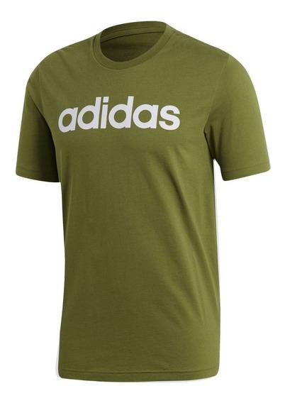 Remera adidas Essentials Linear Logo Ver/bla De Hombre