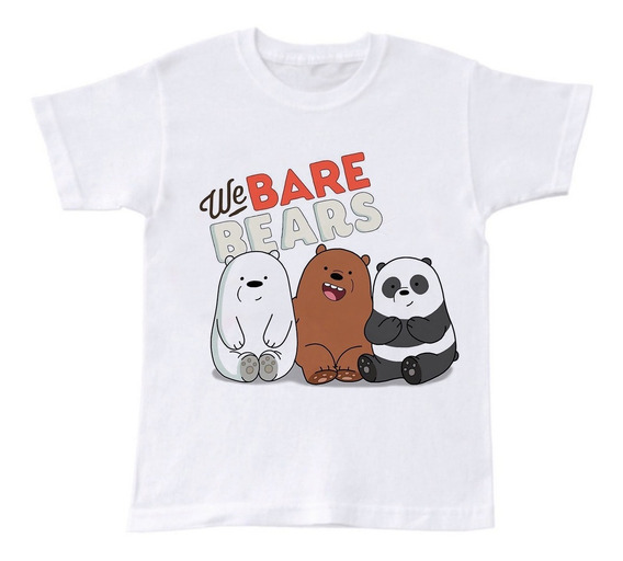 Playera The Bare Bears Osos Escandalosos Niño 2 A 16 Años
