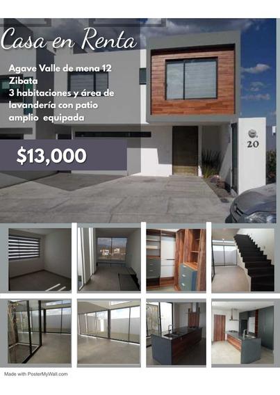 Casa En Renta En Zibata Agave $13000