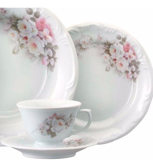 Jogo Jantar Chá E Café 42 Peças Eterna Porcelana Schmidt