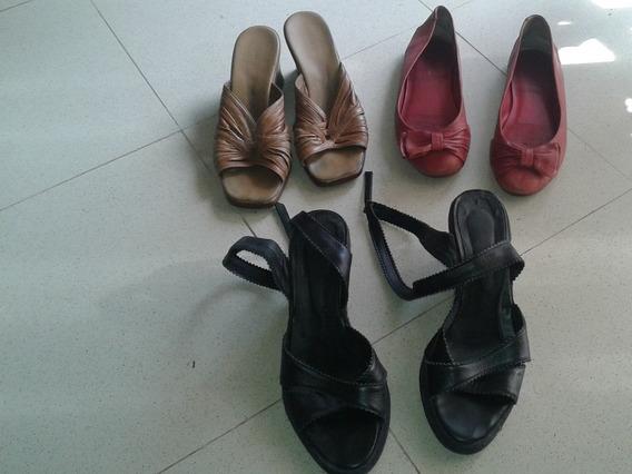 3 Pares De Zapatos De Mujer Mro 39 Al Precio De Uno
