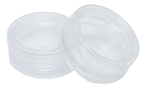 Imagem 1 de 4 de Kit 100 Potinhos Acrílico C/ Tampa Prótese Dentária 4g