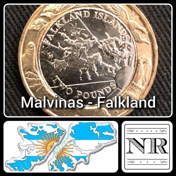 Malvinas - 2 Libras - Año 2004 - Bimetálica Km # 137