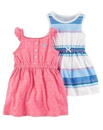 Carters 2 Vestido E Calcinha Menina 3 Meses Rosa Chiclete