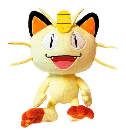 Pelúcia Pokémon 8 - Meowth | Wct/dtc Licenciado Original