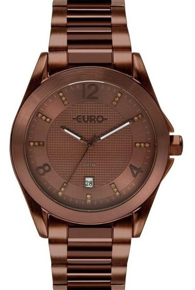 Relógio Euro Feminino Marrom Original Eu2315hp/4m
