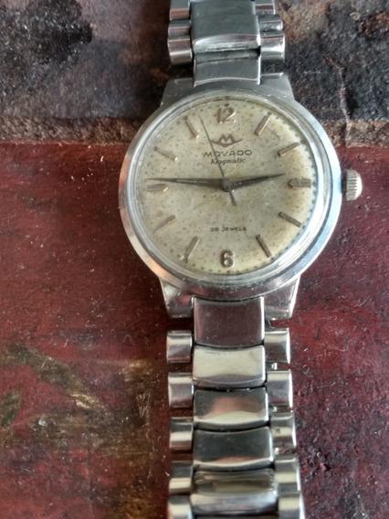 Relógio Movado 28 Jewls Em Aço