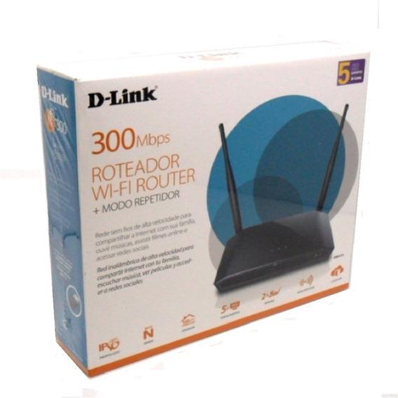Roteador D-link Wireless 300mbps Dir-615 Preto 04 Porta Lan