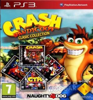 Crash Bandicoot Pack Juegos (1,2,3,ctr) Juego Ps3 Original