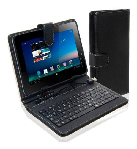 Estuche Funda Teclado Usb Tablet 7 Porta Tablet Calidad