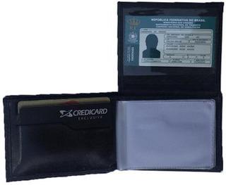 Mini Carteira Couro Legítimo Porta Cartões Dinheiro Cnh Mr1