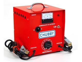 Carregador Bateria Chubby 30ah 12v Com Auxiliar De Partida.