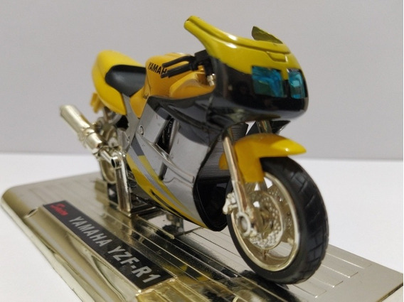 Miniatura Moto Yamaha Yzf-r1 (com Base)