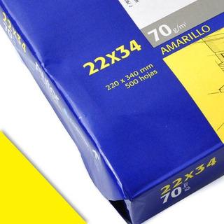 Resma Autor 22x34 70g Duplicación Color Amarillo