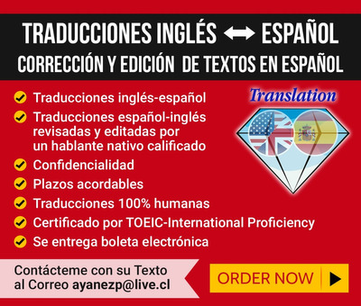Traducciones Inglés Español Y Edición De Textos