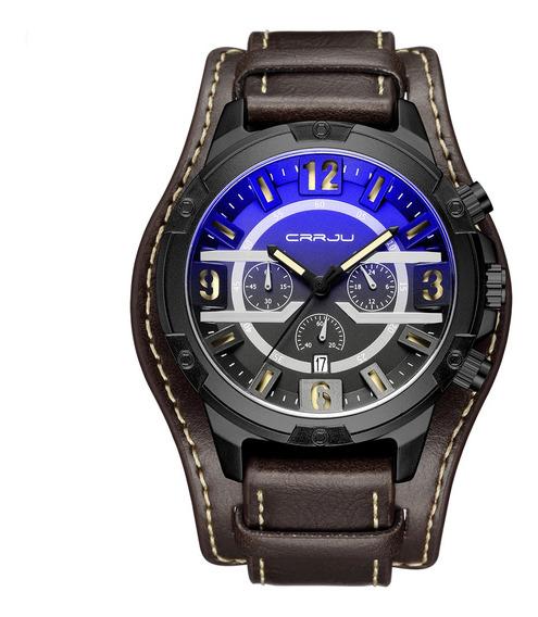 De Lujo Para Hombre Relojes De Cuero 3 Diales 30 M Impermeab
